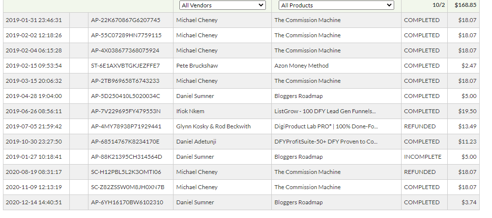 jvzoo affiliate earnings
